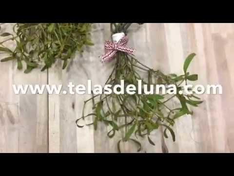 Cómo hacer un ramillete de muérdago - kissing under the mistletoe  | Tutorial manualidades patchwork