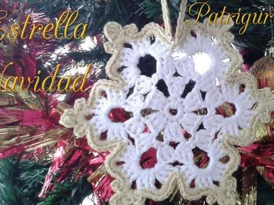 Crochet Estrella - star. Ganchillo