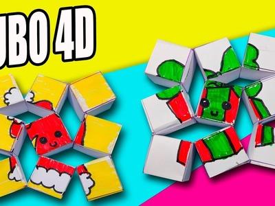 CUBO DESLIZABLE 4D NAVIDAD, FÁCIL Y SENCILLO  | Manualidades Ani Crafts