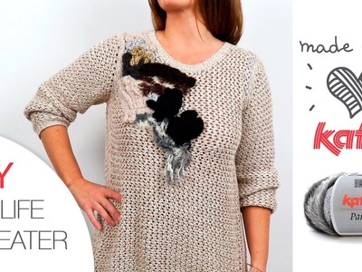 DIY 2nd life sweater: How to recycle a jumper with Katia Paris