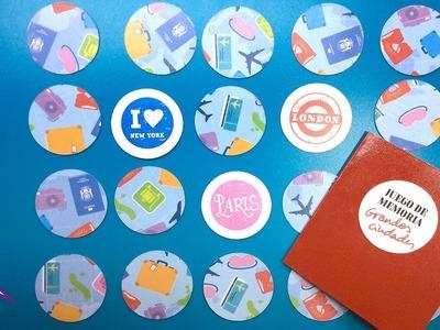 DIY Juego de Memoria (memorama): tarjetas para jugar hechas con sellos