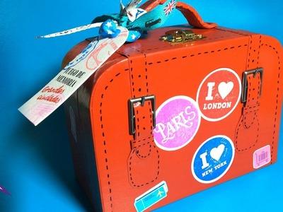 DIY Juego de Memoria (memorama): caja-Maleta retro para guardar las tarjetas