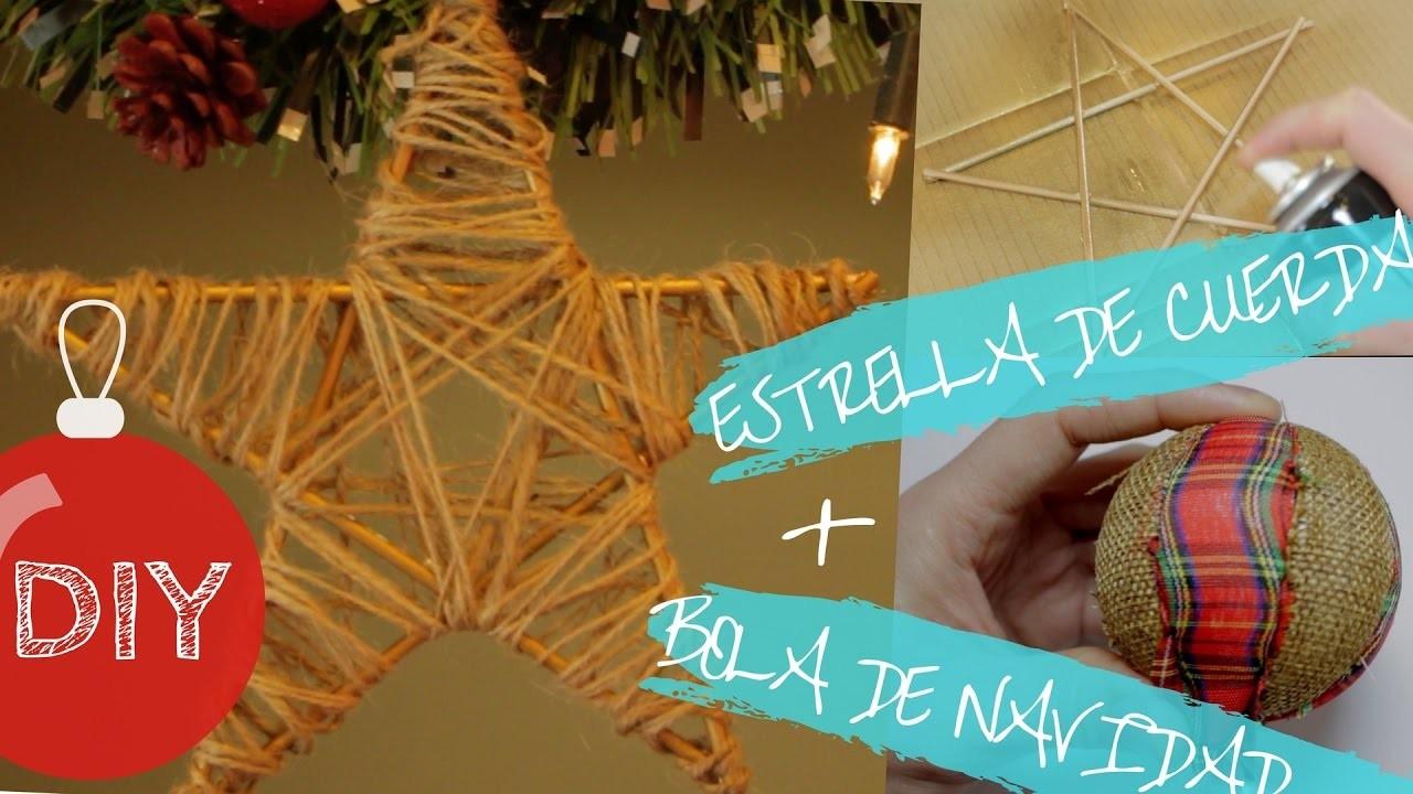 Estrella de cuerda + Bola para el árbol de Navidad | DIY