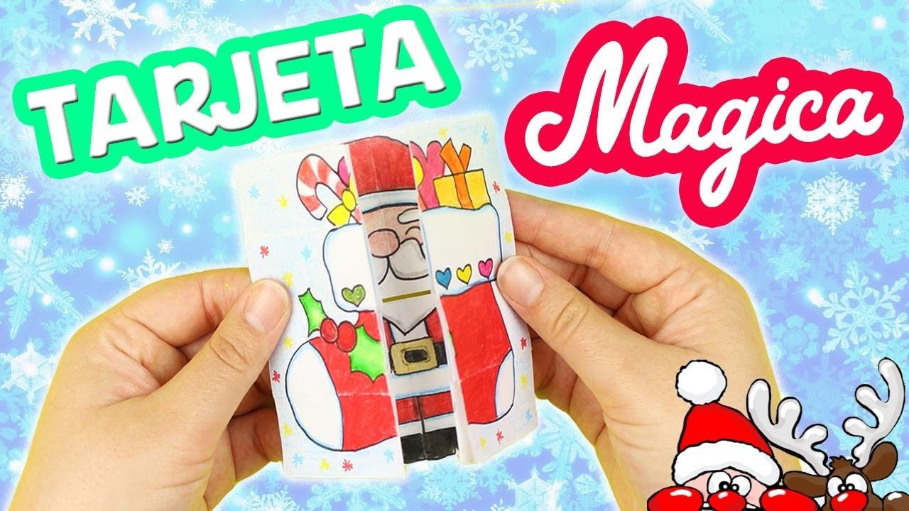 HAZ 4 TARJETAS MÁGICAS en 1!!! Manualidades para Navidad!!! -Mery