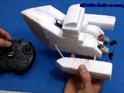 How to make an Electric Boat Very Simple - Control remoto diy boat rc