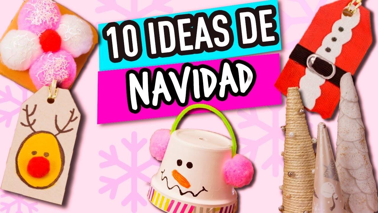 10 ideas para navidad super f ciles manualidades para - Manualidades de navidad ...