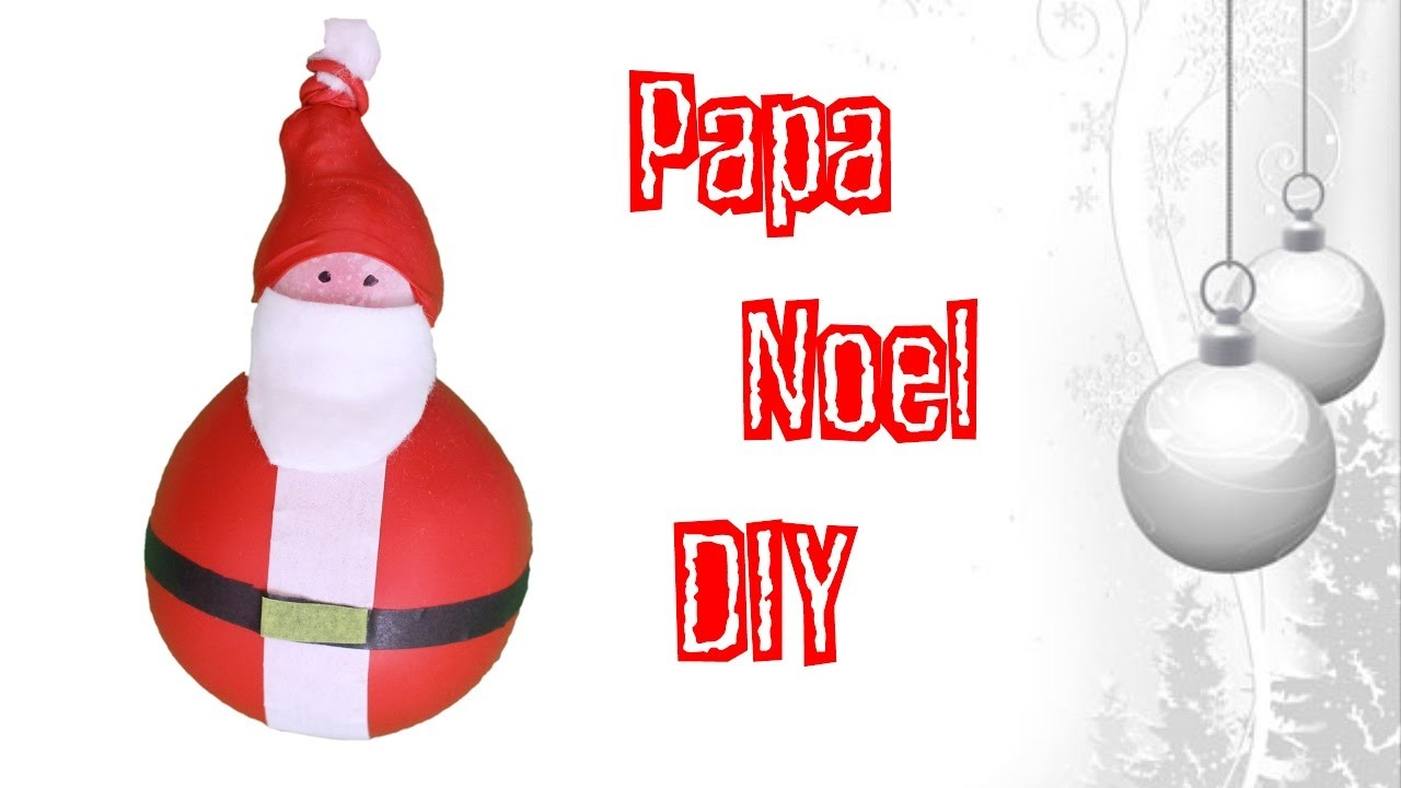 Pelota antiestres de Navidad Papa Noel o Santa Claus DIY