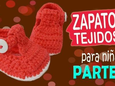 Zapatitos de niña tejidos a crochet | parte 2.2