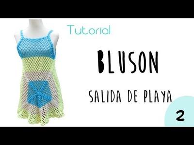 Como tejer a crochet un bluson o salida de playa (2.2)