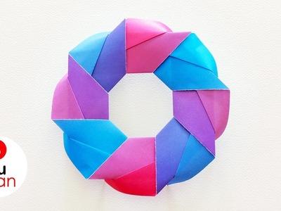 Corona de Papel para Navidad - Origami | JuanTu3
