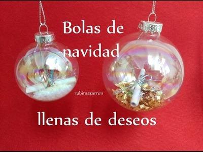 Diy. Bolas de navidad con deseos o peticiones