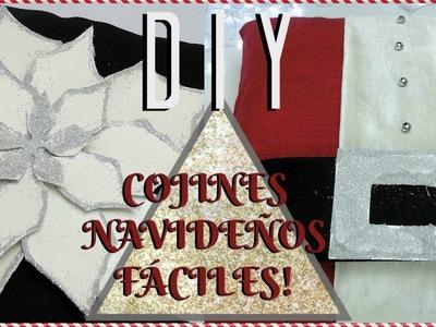 DIY COJINES DECORATIVOS NAVIDEÑOS DE ÚLTIMO MINUTO! Paola Herrera