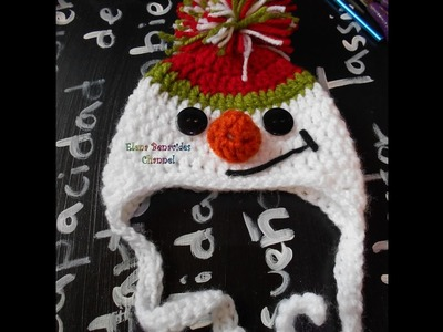 DIY Gorro de Muñeco de Nieve Tejido Crochet