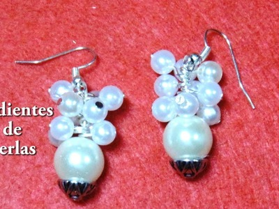 #DIY -Pendientes faciles o aretes de perlas #DIY -Places or pearl earrings