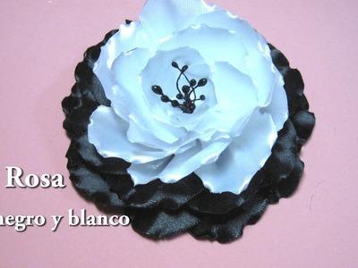 #DIY Rosa en negro y blanco#DIY Pink in black and white