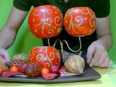 NAVIDAD DIY VELAS ESFERAS - CHRISTMAS CANDLES