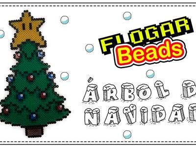 ÁRBOL DE NAVIDAD CON HAMA BEADS - CHRISTMAS TREE WITH PERLER BEADS - IDEAS HAMA BEADS #5