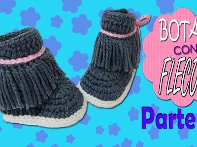 Botas con Flecos tejidas a crochet | parte 1.2
