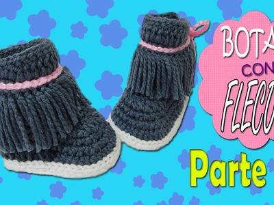Botas con Flecos tejidas a crochet | parte 2.2