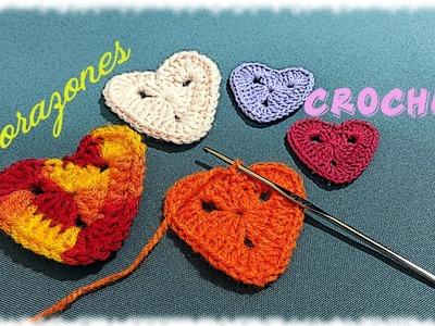 Como hacer un Corazón fácil para San Velentín en tejido crochet tutorial paso a paso