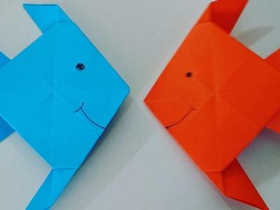 Como hacer un pez de papel muy facil - Manualidades para niños