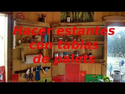 Cómo hacer una estanteria para la cocina con palets