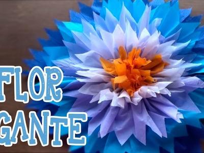 Cómo hacer una flor gigante de papel con muchos colores - Candy Bu