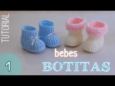Como tejer botitas para bebes (1.2)