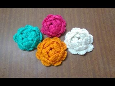 Como tejer preciosas rosas en Crochet - ENGLISH SUBTITLES