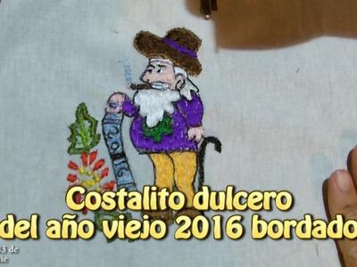 Costalito dulcero del año viejo 2016 bordado |Creaciones y manualidades angeles