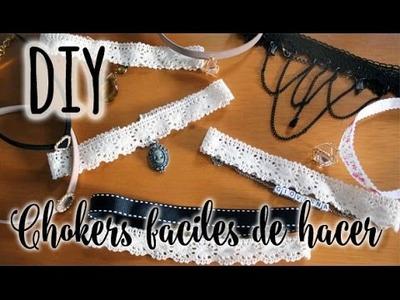 DIY ♥ Chokers fáciles de hacer ♥ JOYERIA