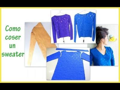 DIY sweater paso a paso fácil de coser