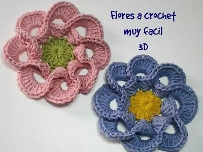 Flores a crochet muy fácil 3D #tutorial