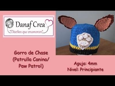 Gorro Patrulla Canina Chase.Paw Patrol tutorial paso a paso (diestro) SUBTITLE