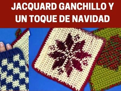 JACQUARD GANCHILLO Y UN TOQUE DE NAVIDAD