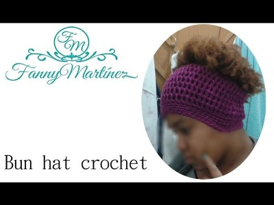 Messy Bun hat A Ganchillo.Crochet