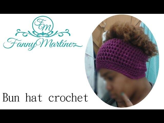 Messy Bun hat A Ganchillo.Crochet