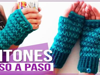 Mitones En Crochet sin Dedos - Tutorial Paso a Paso