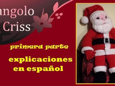Papà Noel Santa Claus  amigurumi de ganchillo  - parte I - tutorial paso a paso