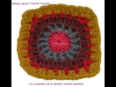 Patron crochet los cuadrados de la abuelita 8 granny square