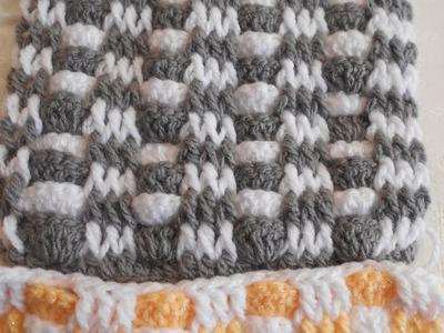 Punto fantasía en crochet fácil y  rápido