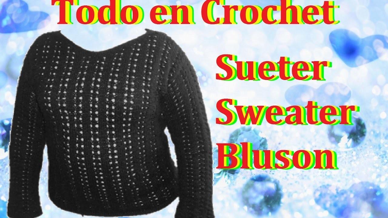 Suéter.blusón en dos agujas parte 2