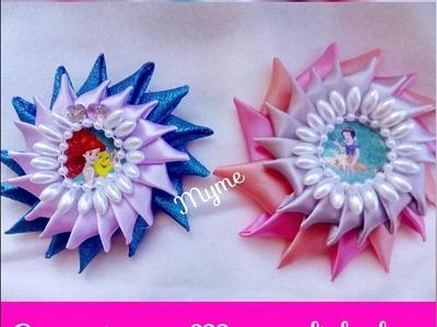 Tocado Con petalos Kanzashi facil de hacer. kanzashi petals easy.Creactivate Manualidades