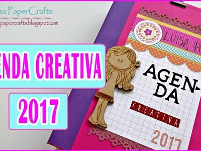 TUTORIAL Carpeta para mi AGENDA creativa | Cómo hacer una carpeta | DIY Scrapbook Luisa PaperCrafts