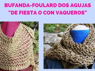 "BUFANDA - FOULARD "" DE FIESTA O CON VAQUEROS"""