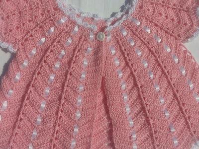 Chambrita tejida a gancho o crochet para bebe