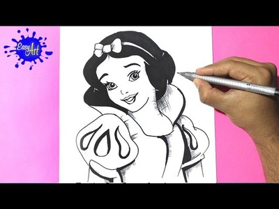 Como dibujar a blanca nieves 2 l how to draw snow white - como dibujar una princesa