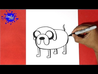 Como dibujar a Jake   - Hora de aventuras | How to draw Jake - Adventure time