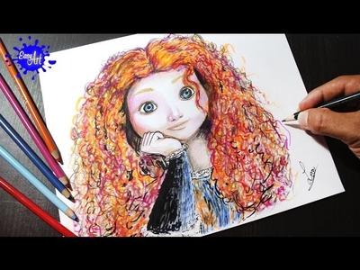 Como dibujar a merida - valiente l How to draw merida brave  l Como dibujar una princesa