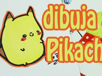 Cómo dibujar a Pikachu de Pokemon kawaii.how to draw a cute Pikachu